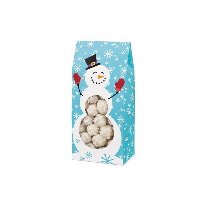 Cajas, pack 3 cajas largas presentación  Muñeco de Nieve Alegre y Dulce Navidad Wilton