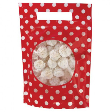 Bolsas para galletas, piruletas pack 3 unidades Rojo Lunares Wilton