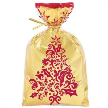 Bolsas grande para dulces pack 8 unidades Rojas y Doradas Decadent Wilton