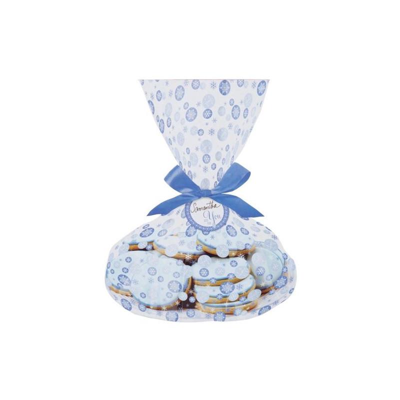 Bolsas para galletas, piruletas pack 3 unidades Copos de Nieve Wilton