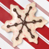 Kit de chocolates peppermint copos de nieve Navidad Wilton