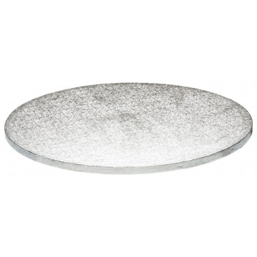 Bandeja presentación redonda plata 27 cm