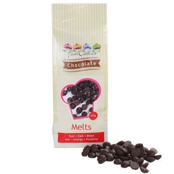 Choco Melts Sabor Chocolate Negro Grageas de Chocolate 350gr Funcakes
