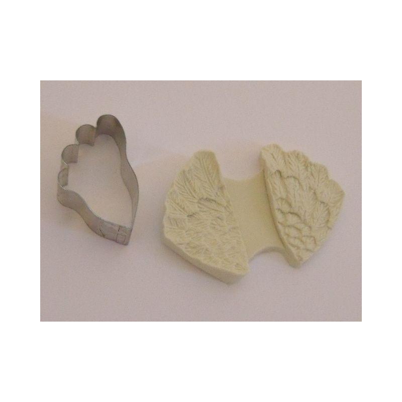 Set cortador y molde silicona: Alas Angel