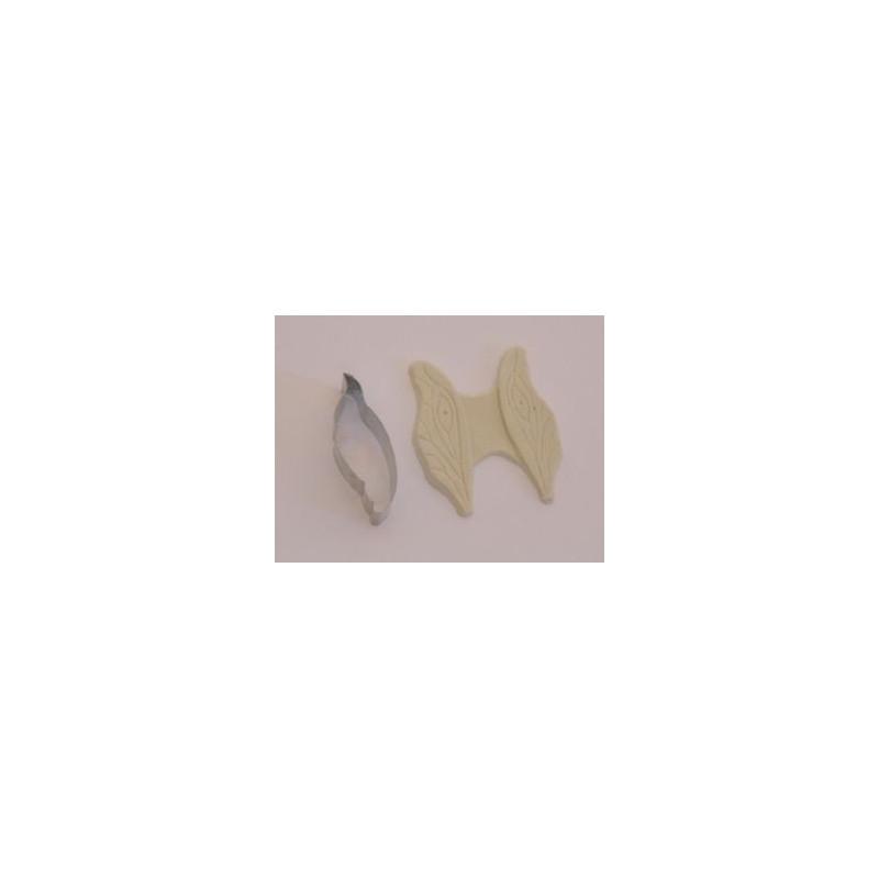 Set cortador y molde silicona: Alas Mariposa