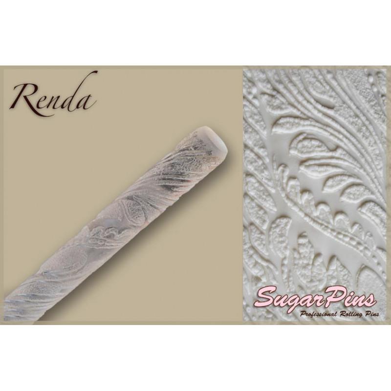 Rodillo texturizador grande 40 cm Renda SugarPins