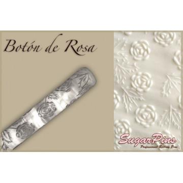 Rodillo texturizador grande 40 cm Botón de Rosa SugarPins