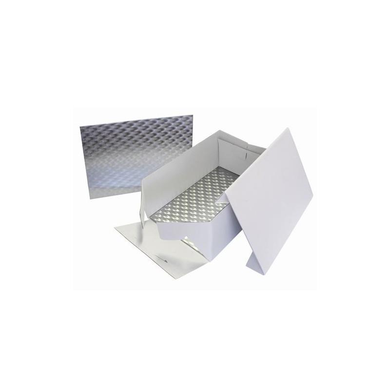 Caja para tartas rectangular 38,1 x 27.8 cm + Bandeja