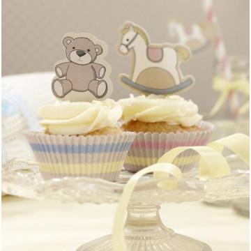 Set cupcakes +  toppers Fiesta Bebe