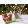 Pajitas de papel + banderas Be Marry Christmas