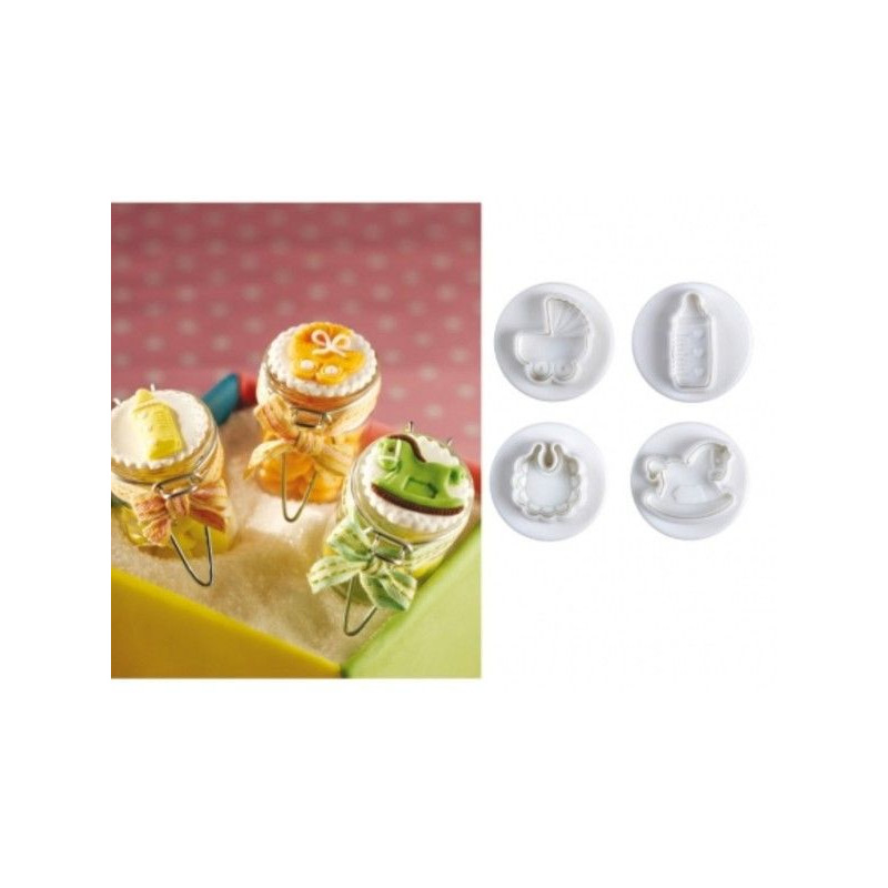 Cortante pack 4 cortantes Baby Pavoni