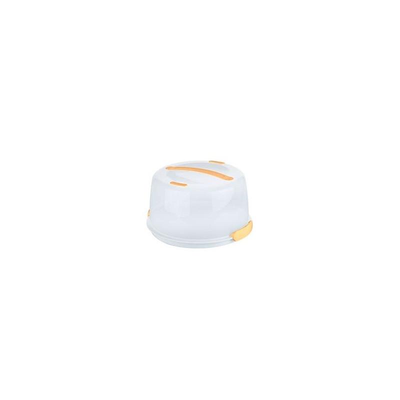 Caja Transportadora Térmica Redonda Blanco Amarillo Tescoma