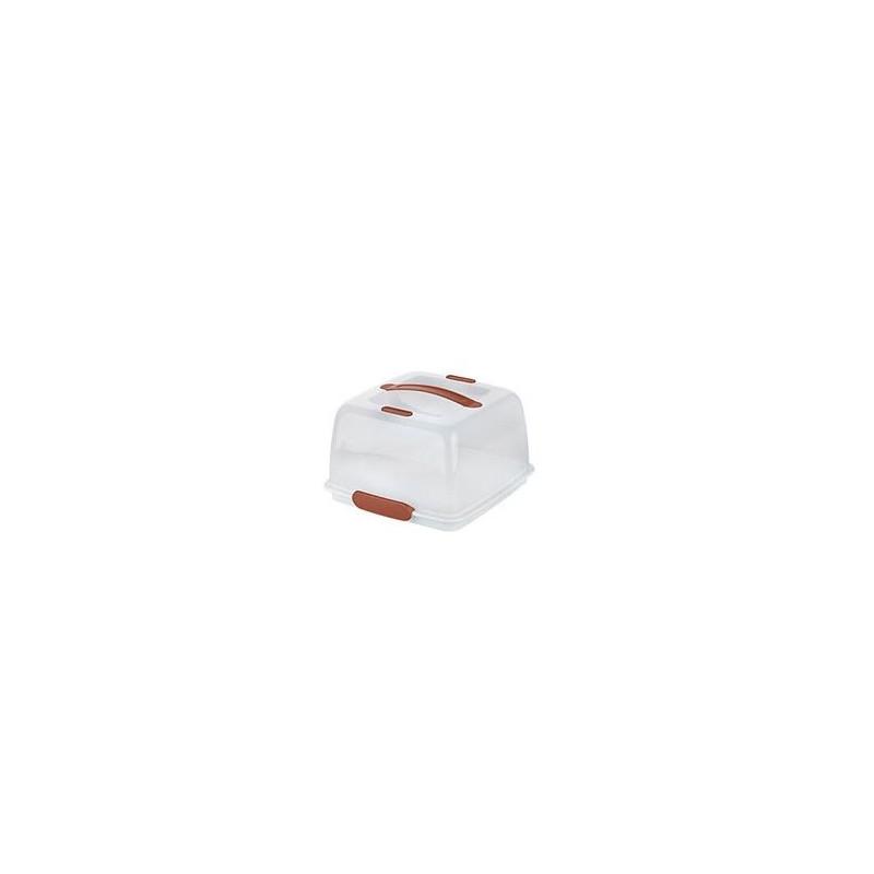 Caja Transportadora Térmica Cuadrada Blanca Marrón Tescoma