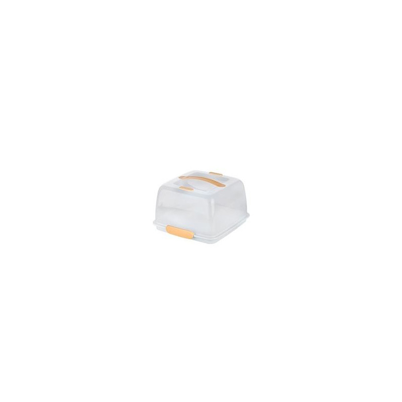 Caja Transportadora Térmica Cuadrada Blanca Amarillo Tescoma