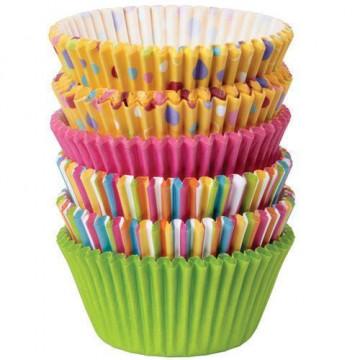 Capsulas cupcakes pack 150 unidades Surtido Lunares y Rayas Wilton