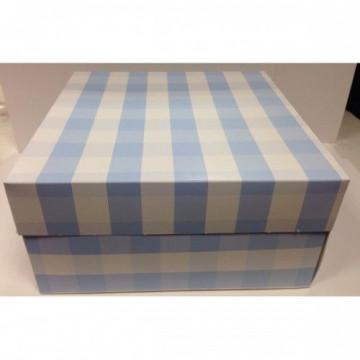 Cajas para tartas 30 x 30 Vichy Azul