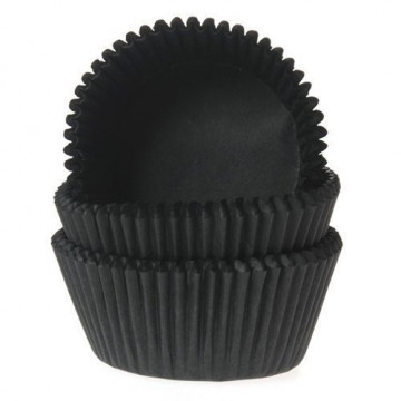 Cápsulas mini cupcakes color negro House of Marie