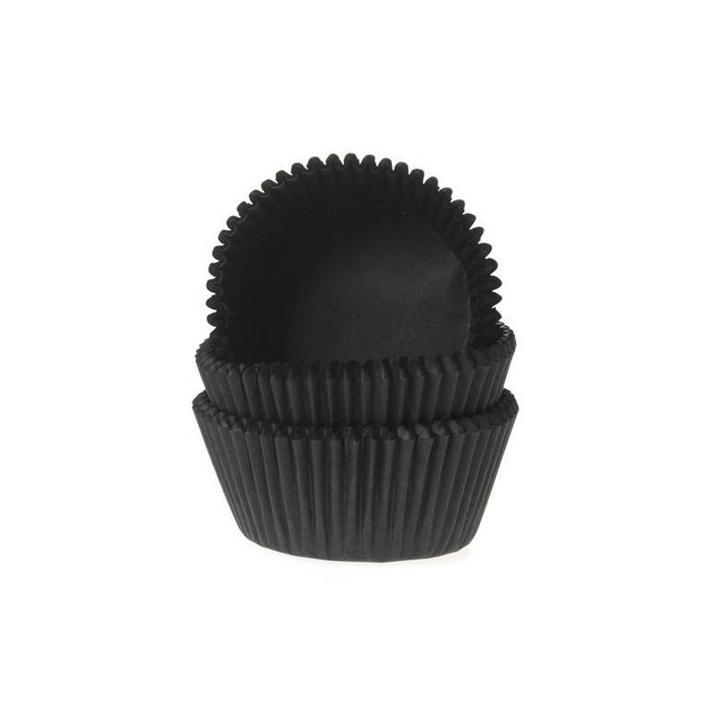 Cápsulas mini cupcakes color negro House of Marie