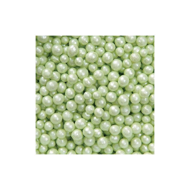 Sprinkles Pearlized Green Sugar Pearls Wilton