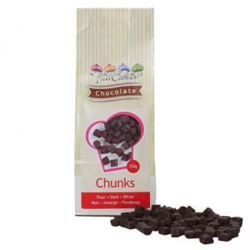 Trozos de Chocolate Negro 350 gr Funcakes