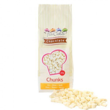 Trozos de Chocolate Blanco 350 gr Funcakes