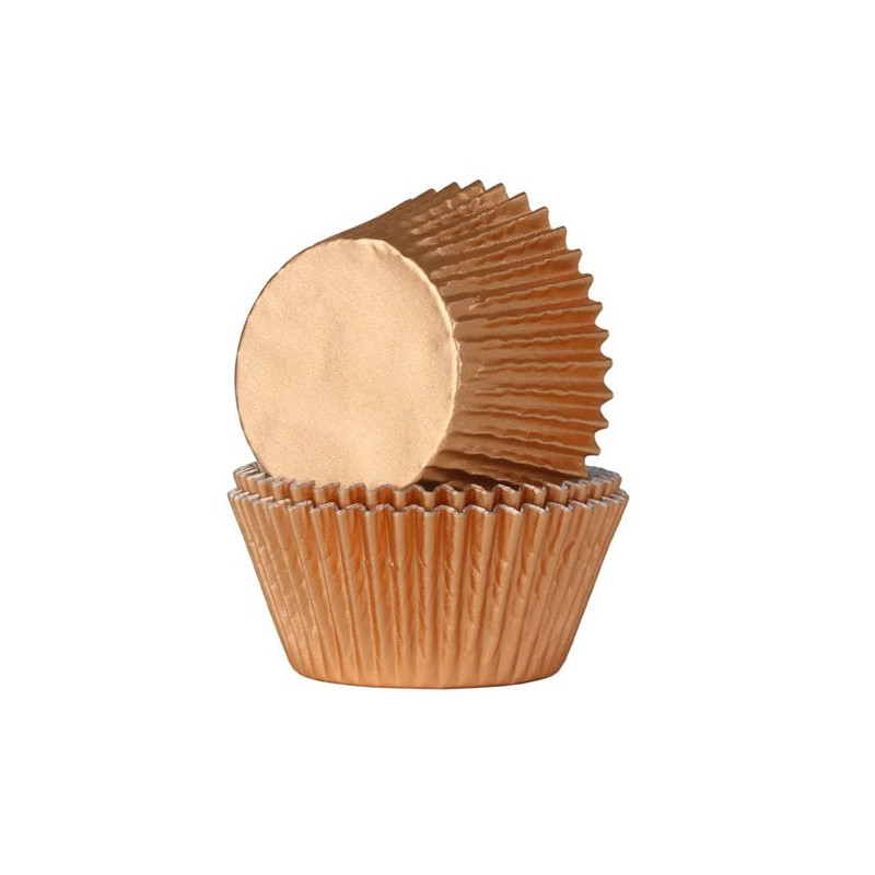 Capsulas cupcakes Bronce Metalizadas HoM