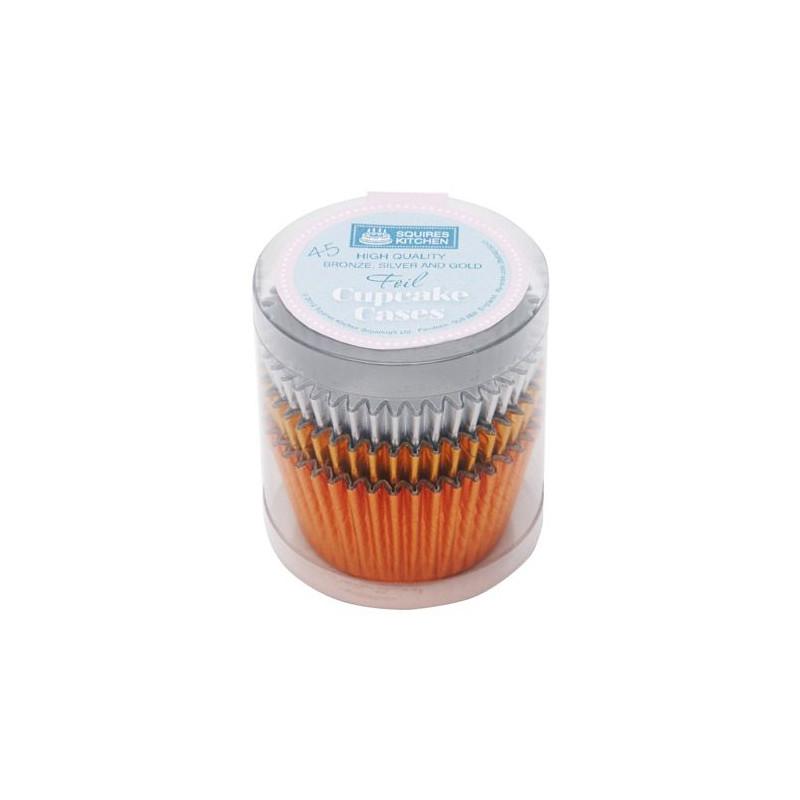 Set 45 Cápsulas cupcakes colores metálicos SK