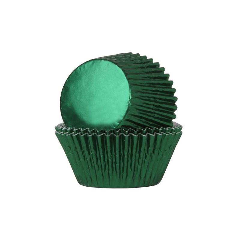 Cápsulas cupcakes Verde Metalizadas HoM