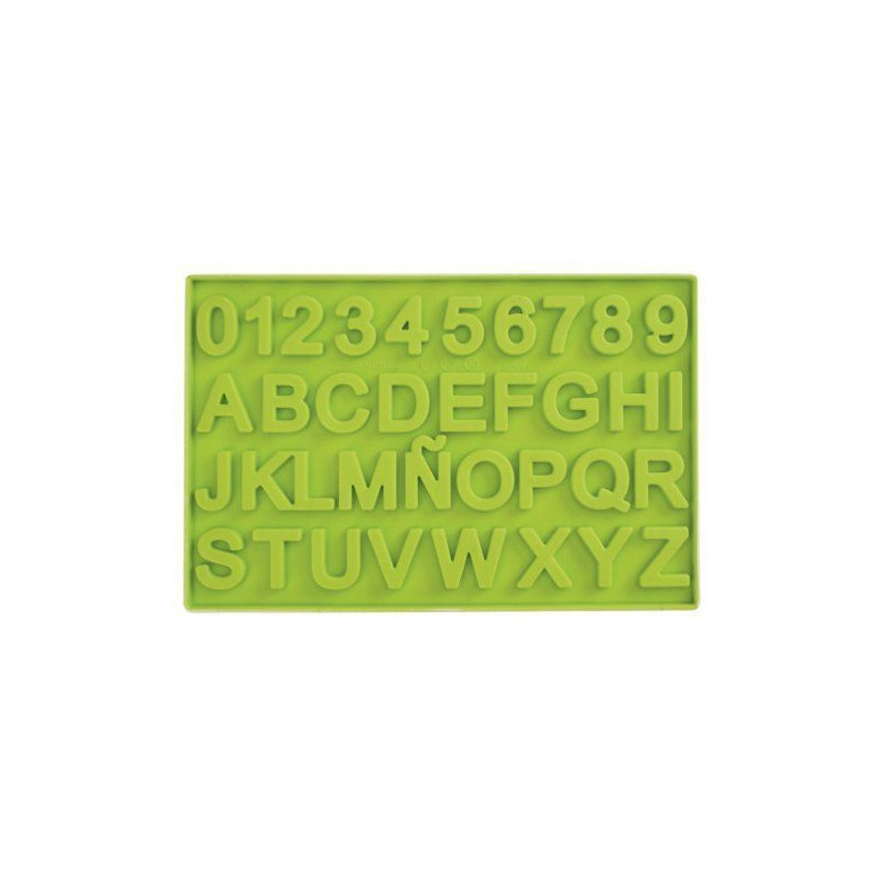 Molde Silicona para chocolate de letras y números Ibili