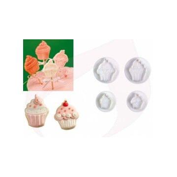 Cortante pack 4 cortantes Cupcakes Pavoni