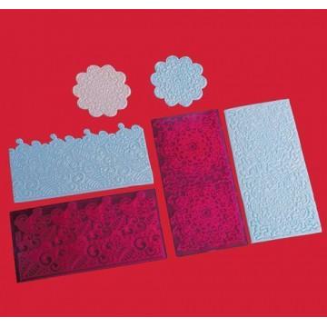 Plantillas texturizadoras pack 4 Filigranas FMM