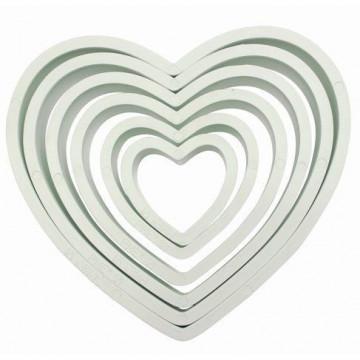 Cortante pack 6 cortantes básicos corazón PME