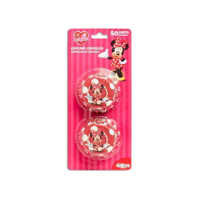 Capsulas cupcakes Minnie Mouse