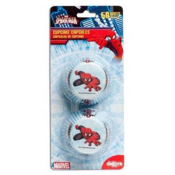 Capsulas cupcakes Spiderman
