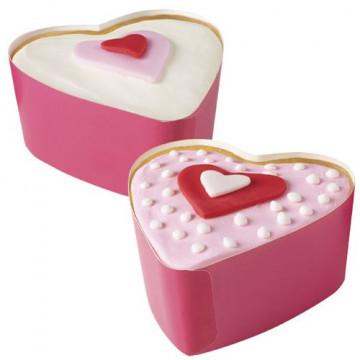 Molde para horneado de corazón desechable 7.6cm , 12 und. Wilton