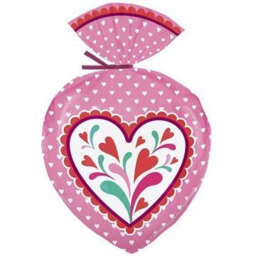Bolsas para galletas con forma de corazón San Valentín Wilton