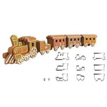 Cortante pack 11 cortantes: Tren con Vagones Tescoma
