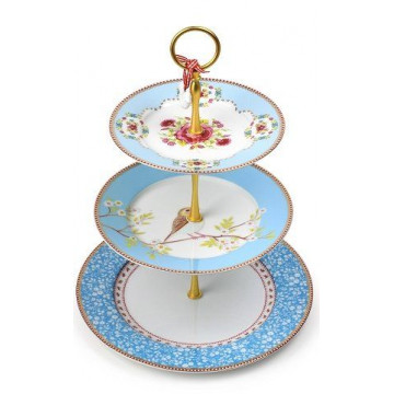 Stand presentación cupcakes pastelitos Floral Bleu PIP Studio