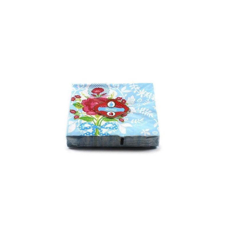Servilletas de papel Floral Bleu PIP Studio