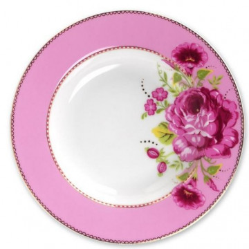 Plato de cerámica hondo Floral Rosa PIP Studio