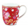 Tacita con asa Floral Chinese Rojo PIP Studio