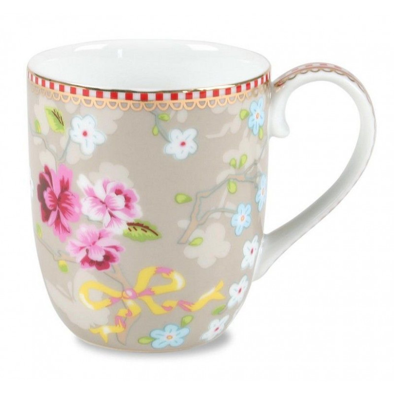 Tacita con asa Floral Chinese Beig PIP Studio