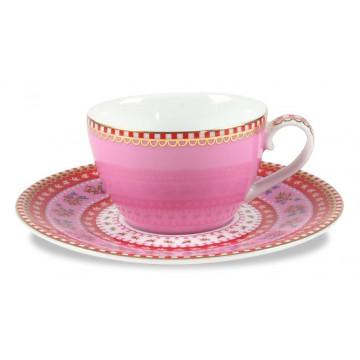 Tacita de café + Plato Floral Rosa PIP Studio