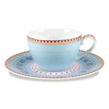 Tacita de café + Plato Floral Azul PIP Studio