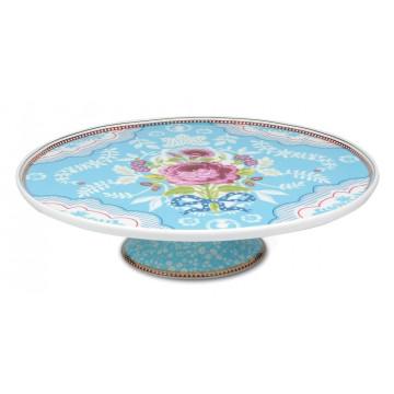 Cake Stand Ceramica Floral Azul PIP Studio