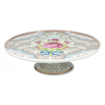 Cake Stand Ceramica Floral Beig PIP Studio