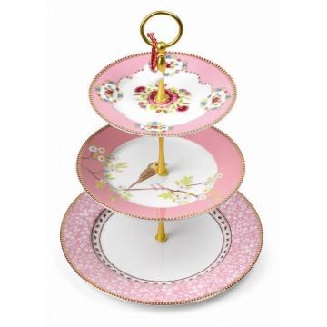 Stand presentación cupcakes pastelitos Floral Rosa PIP Studio