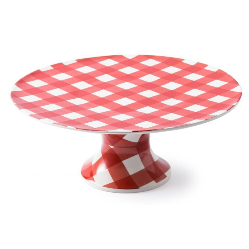 Cake Stand Ceramica Vichy Rojo AHWM