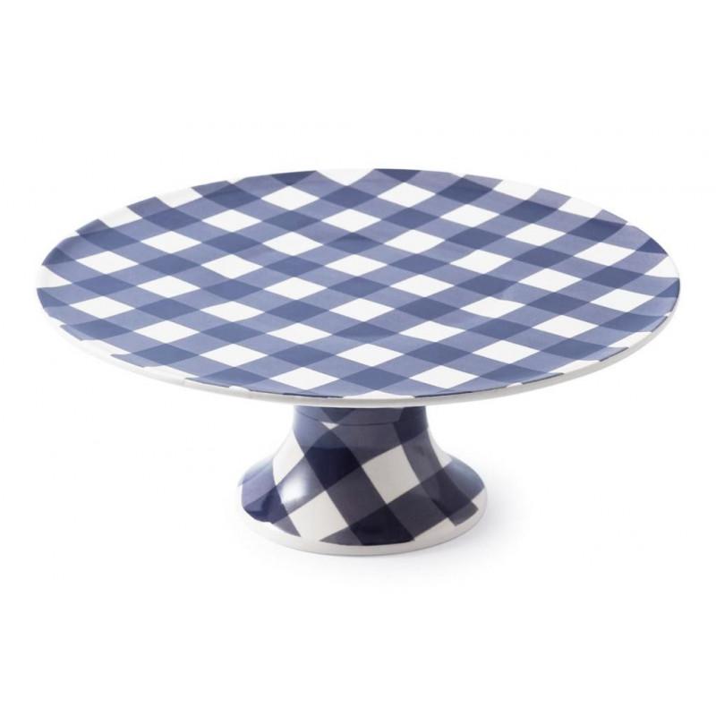 Cake Stand Ceramica Vichy Azul Marino AHWM