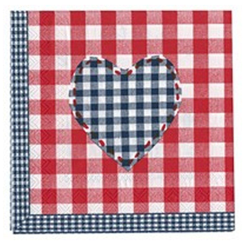 Servilletas de papel Corazón Azul AHWM